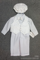 Baby Boy Clothing Set Newborn Boy Baptism Jumpsuit And Overall Set White Christening Outfit 1st Birthday