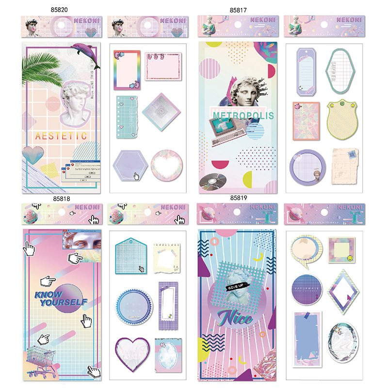 Retro Instant Poster Double-Deck Decorative Stationery Stickers Scrapbooking DIY Diary Album Stick Label