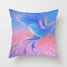 Fuwatacchi Home Decor Cushion Cover Lion Horse Wolf Bird Crane Pillows for Sofa Chair Animals Pillowcases