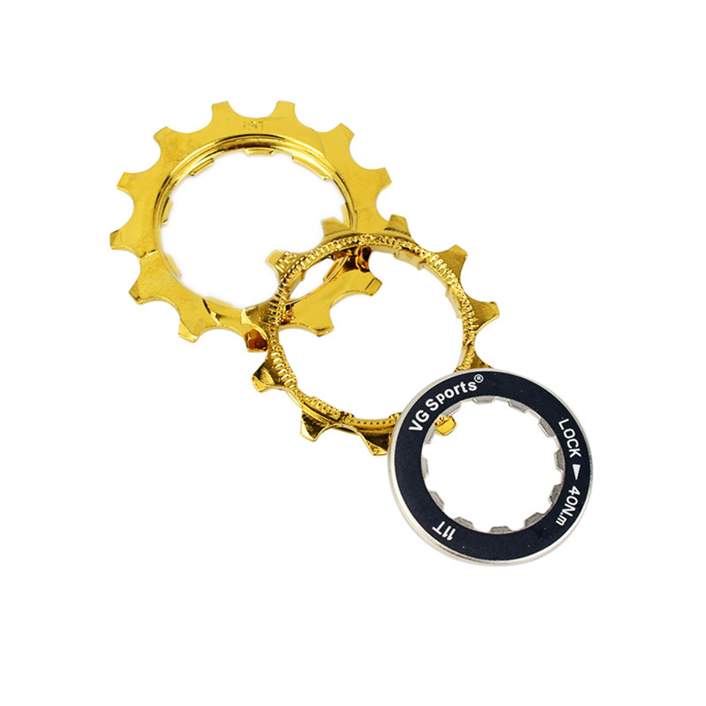 VG Sports 10 Speed Cassette 10S 10V Mountain Bicycle Freewheel 11 42T Golden Sprocket for Shimano Sram cdg cog 10 Velocidade 42T in Bicycle Freewheel from Sports Entertainment