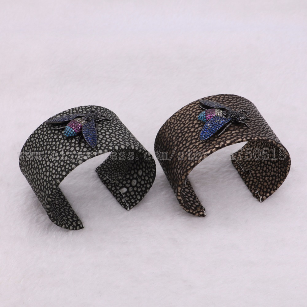 3 pieces Big bangle cuff bangle bracelet with Cubic Zircon bugs beads mix color beads bangle gems jewelry 2930