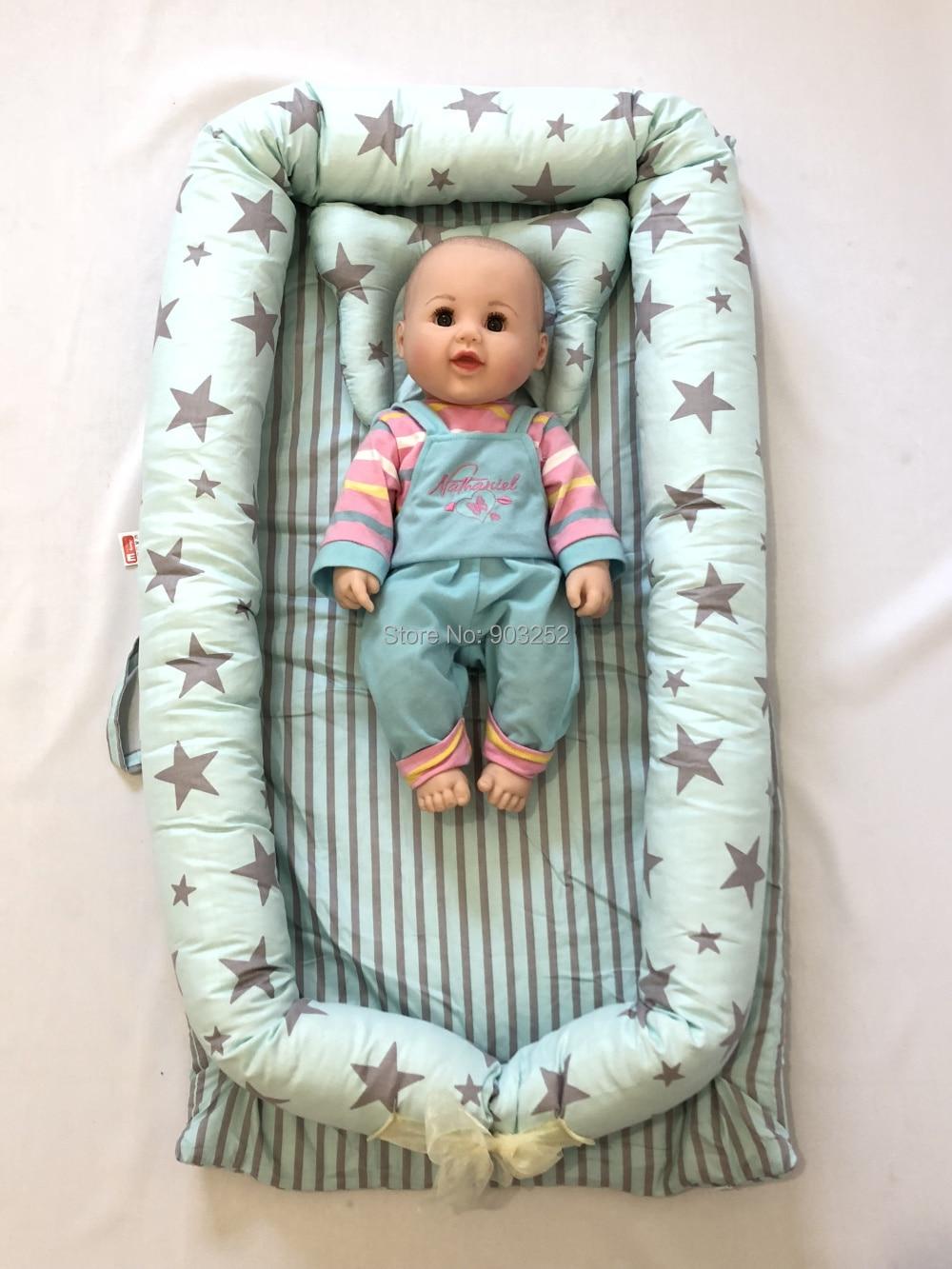 Детская кровать-гнездо с подушкой, детская кровать, snuggle nest. Co-sleeper, детская кровать для путешествий, детский кокон, детская кровать, детская спальная