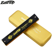 Easttop 22 Holes Tremolo Harmonica ABS Comb Musical Instruments Armonica Instrumento Harmonica C key Professional Mouth Ogan
