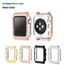 Crystal Diamonds Case for Apple Watch case 42/38mm PC Frames Bumper Protector Cover iwatch series 3/2/1 men & women watches