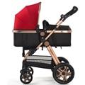 Best Selling Carrinho de Bebê Alta Paisagem Alumínio Frame Dourado À Prova de Choque de Carro Do Bebê Portátil Dobrável Carrinhos para Recém-nascidos