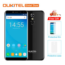 "Oukitel C8 5.5 ""HD 18:9 Infinity Display Android 7.0 2GB RAM 16GB ROM MTK6580A Quad Core ลายนิ้วมือ 13MP 3000mAh(China)"
