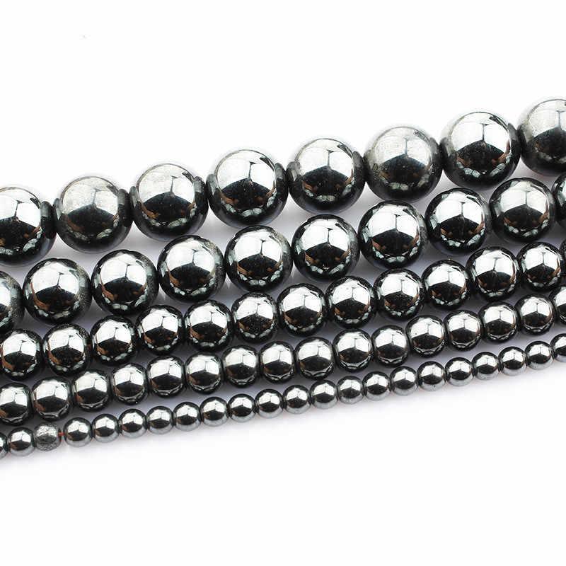 4 6 8 10 12mm טבעי המטיט חן עגול Loose חרוזים טבעי אבן עבור DIY שרשרת צמיד תכשיטי ביצוע HK038