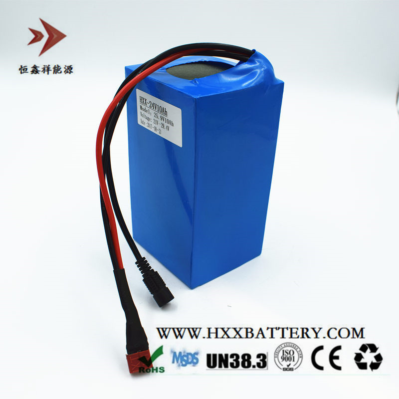 HXX 24v 10ah Lithium Battery Pack T Type Discharge Electric Self-Balancing Scooters Battery Long Cycles Wholesales Customization ленэн т надо бы