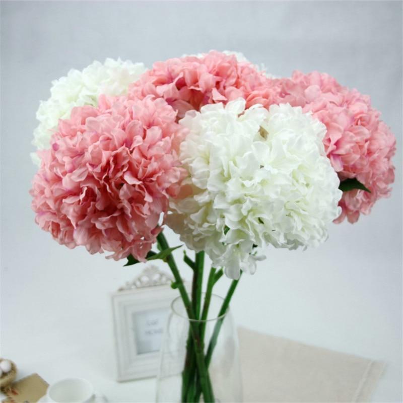 5pcs lot wholesale real touch hydrangea artificial flower arrangement fake silk hydrangea for. Black Bedroom Furniture Sets. Home Design Ideas