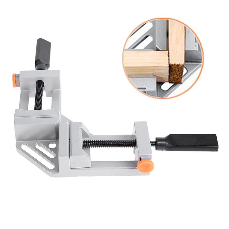 90 Degree Right Angle Clamp Mitre Clamps Corner Clamp Picture Holder Woodwork Aluminum Alloy Right Angle Corner Clamp ninth world new single handlealuminum 90 degree right angle clamp angle clamp woodworking frame clip right angle folder tool