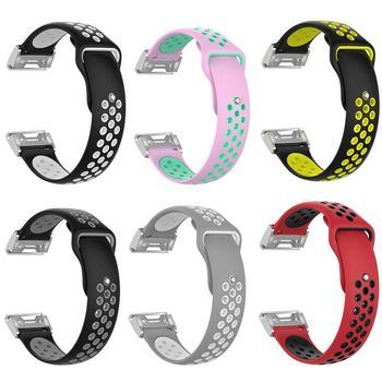 Correa de reloj de silicona suave hueca de repuesto de doble Color para Garmin Fenix 5S 2019NEW
