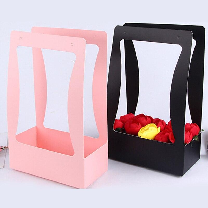 portable flower box packaging flower basket gifts folding