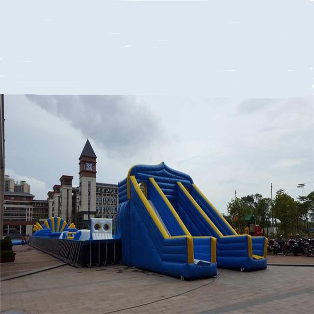 Trampoline gonflable parc aquatique combo trampoline toboggan gonflable videur jeu de saut pour enfants