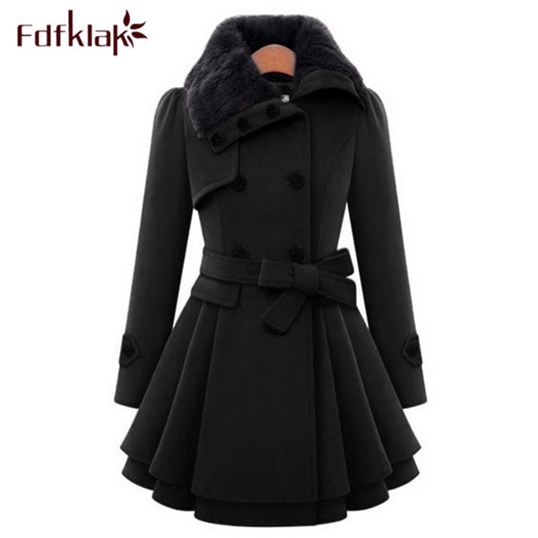 US $41.22 49% OFF|XXL XXXL 4XL Plus Größe Korean Fashion Mantel Damen Winter Wolle Mäntel Langarm Damen Woolen Mäntel SchwarzNavy Manteau