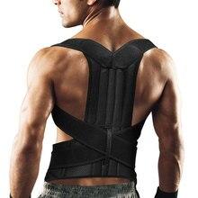 Adjustable Posture Corrector Back Support Shoulder Lumbar Brace Corset Belt for Men