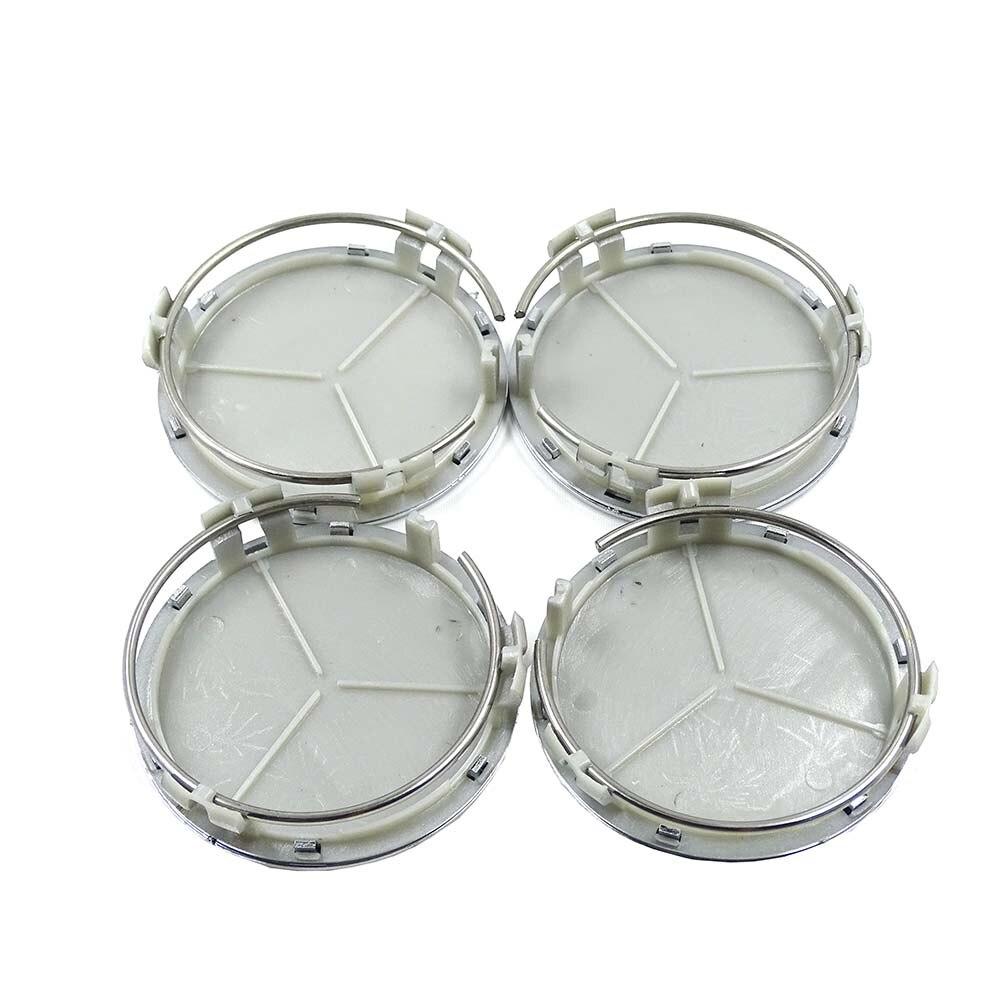 20pcs 75mm Black or Silver Wheel Center Caps Wheel Hub Rim Cap Cover Badge Emblem for Mercede benz for G M R S Car styling