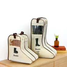 Portable Big Shoes Storage Bags Hanging Closet Cabin Shoe Cover Boots Organizer Sack Storaging Bag With Zipper Boot Protector
