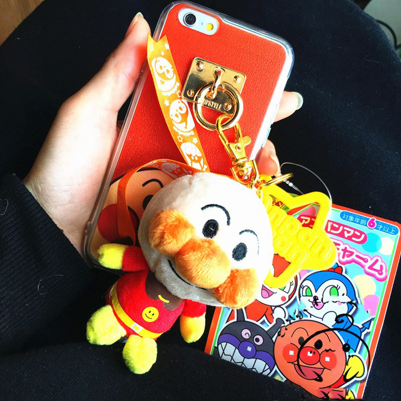 Cute Anpanman Bacterial Boy Doll Pendant TPU Phone Shell For Iphone 6 /6S Plus 7 7Plus Phone Cases