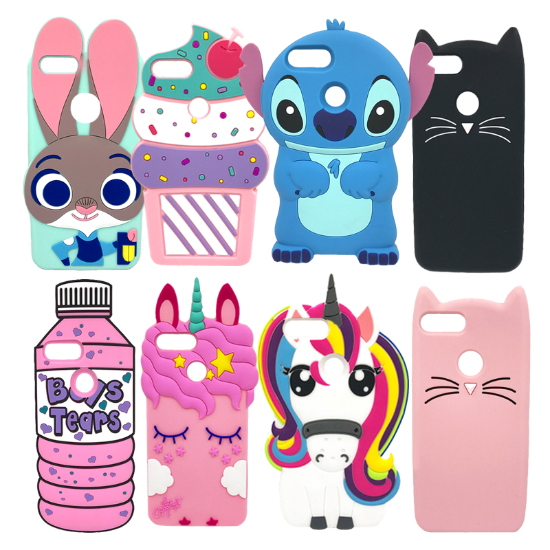 "Cute Case For Xiaomi Mi A1 Mi 5X 5.5"" Soft Silicone Back Phone Cover For Xiaomi Mi A1 3D Cartoon Stitch Coque For Xiaomi Mi 5X"