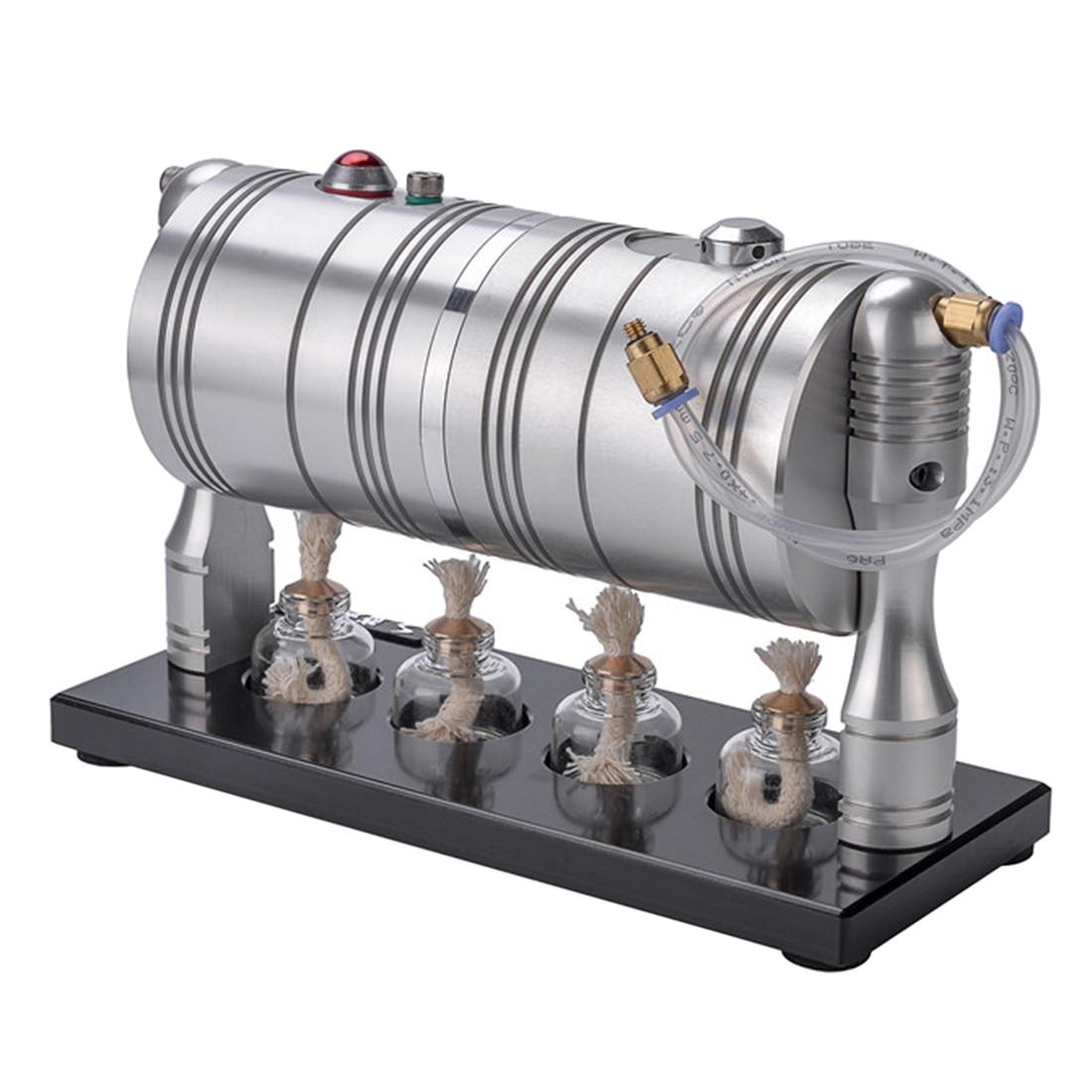 Plein métal Startable rétro moteur à vapeur moteur modèle éducation bricolage modèle jouet cadeau pour enfants artisanat ornement découverte alternateur