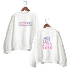 Black Pink Sweatshirts Kpop Pullover Loose Casual Fleece Hoodies With Capless Winter Fleece Tracksuit Hoodies XXS To XXXL