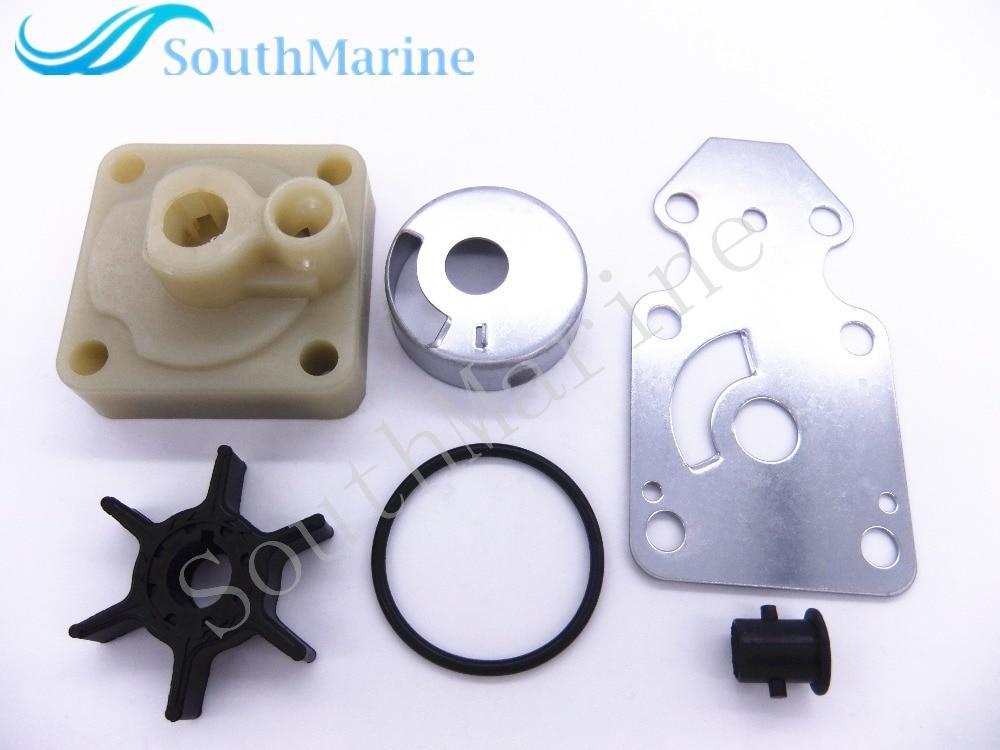 ФОТО Water Pump Impeller 63V-W0078-00-00 Repair Kit for Yamaha F15 15hp 4-stroke Boat Motors