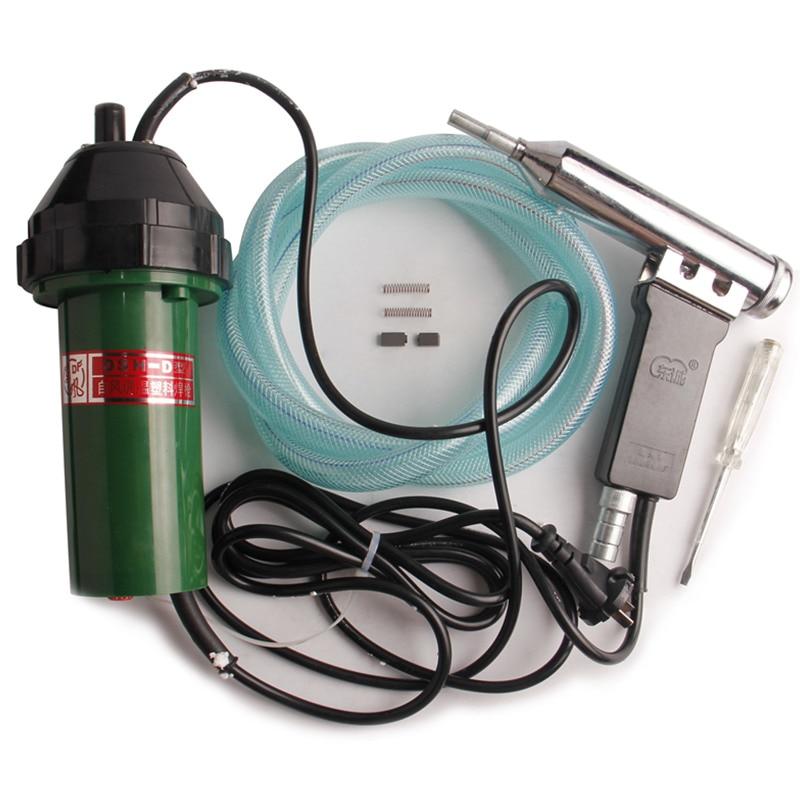 Soldadura de tela de PVC 1000W Soldador de plástico de aire caliente Solda Plastico Ferramentas Manuais Tipo dividido con pluma eléctrica Cepillo de carbón