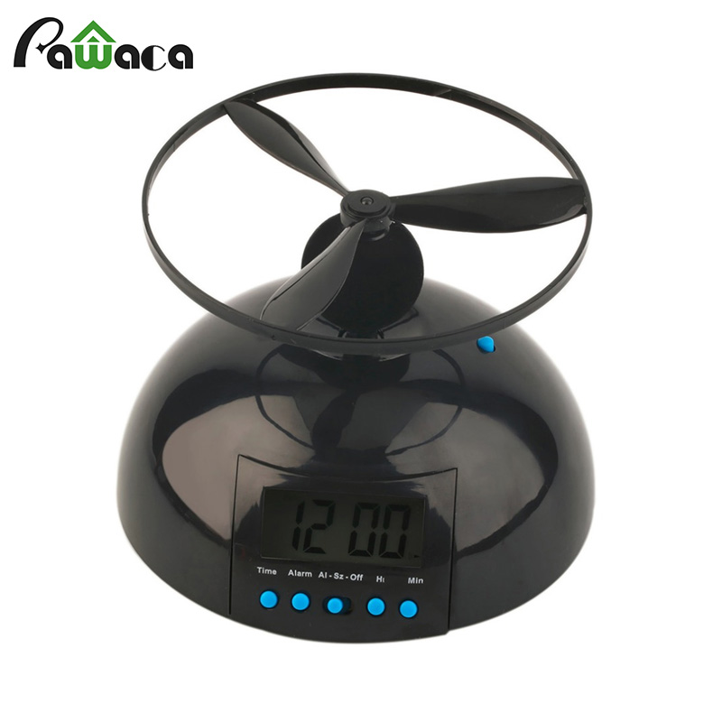 Creative Helicopter Flying Alarm Clock Propeller Flying Snooze LED Digital Display Clock For Home Decoration AA Battery Powered