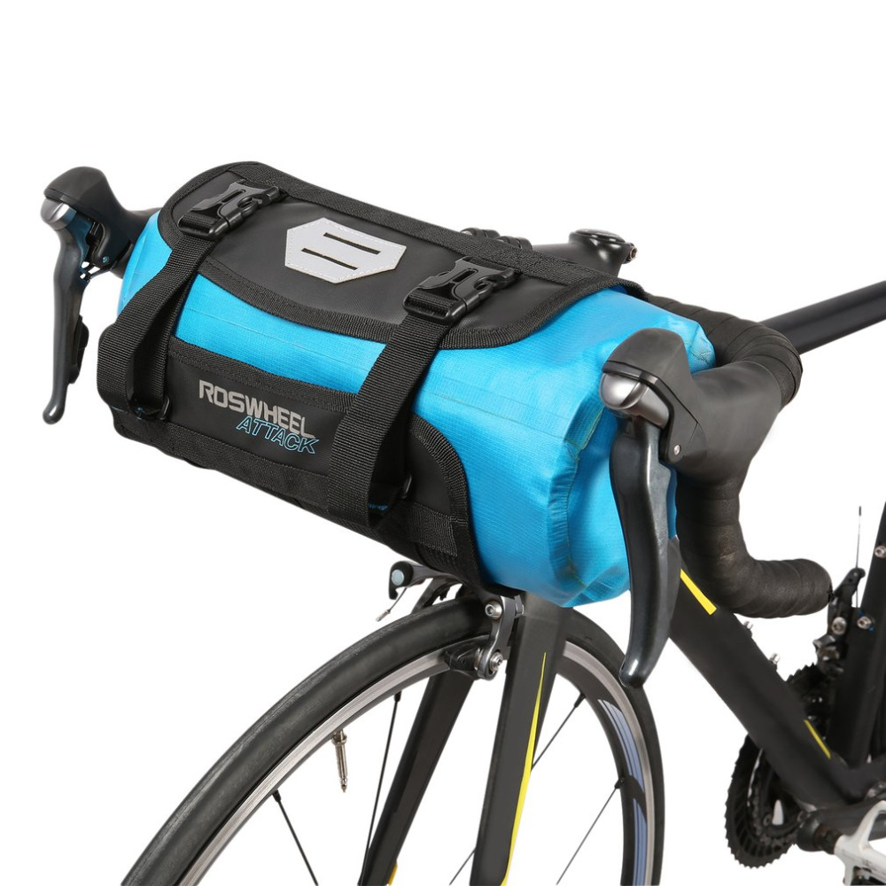 ROSWHEEL ATTACK Bicycle Front Tube Bag Waterproof Bike Handlebar Basket Pack Cycling Front Frame Pannier Bicycle Accessories roswheel mtb road bike bag touchscreen bicycle saddle bag for 5 5 7 phone cycling front frame tube bag bicycle accessories