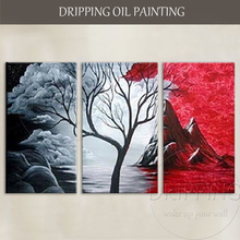 Artist Hand-painted High Quality Abstract Landscape Oil Painting on Canvas Modern for TV Wall