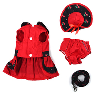 Cute And Beautiful Classic Stylish Pet Clothes Set Lovely Pet Skirt Underwear Shorts Diapers Leash Set