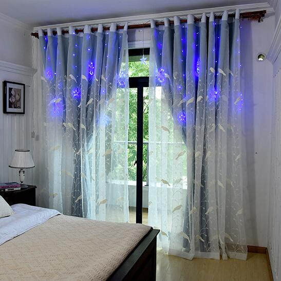 American Embroidered bird Tulle Cloth double zodiac Window Sheer Curtain For Living Room Bedroom Kitchen Window