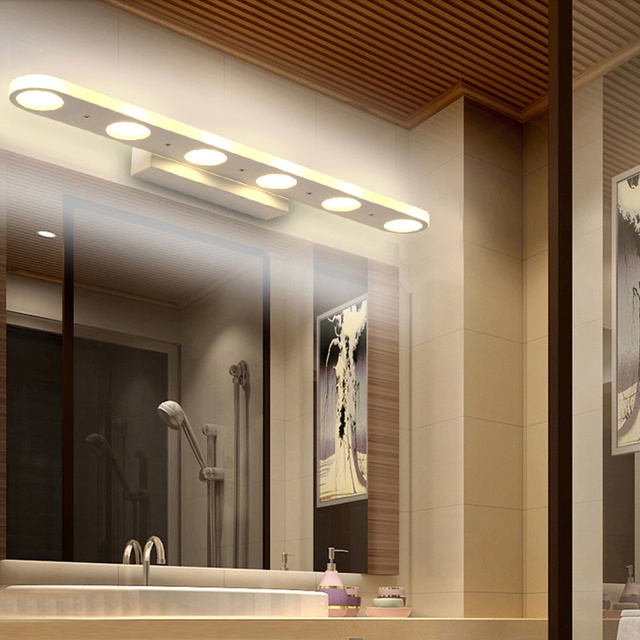 New wall led mirror lights modern wall lamps bathroom dress room ...
