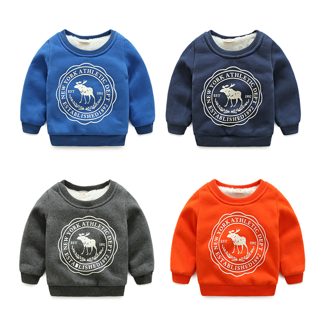 Meninos da criança além de veludo moletom 2017 moda inverno menino fleece espessamento outerwear bebê top pullover térmica