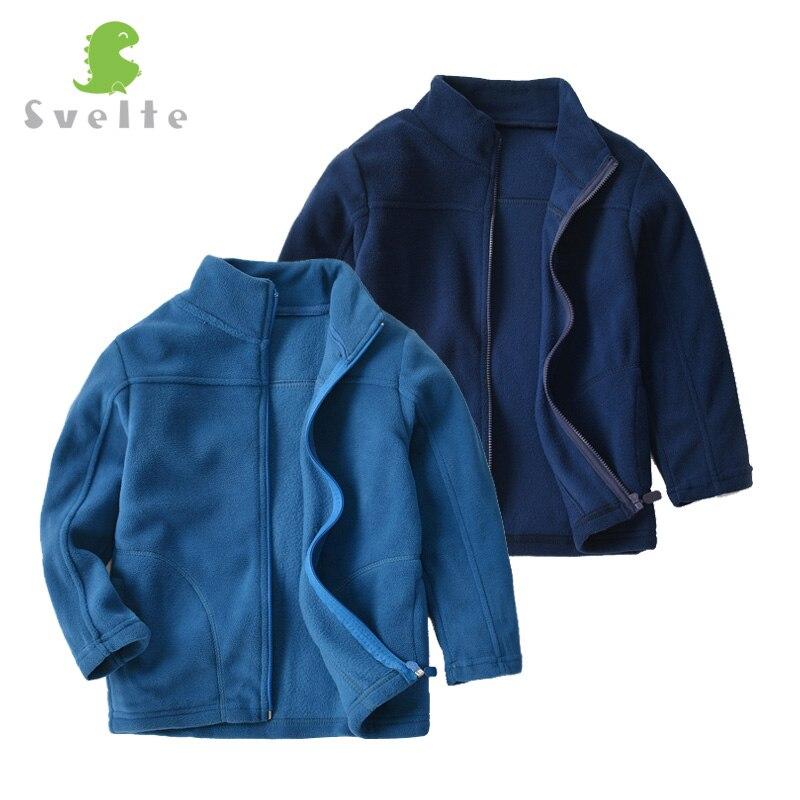 SVELTE 2019 New Spring Fleece Full Sleeve Jacket for 2-6 Yrs Boys Blue Casual Polar Fleese Navy Coat Kids Cardigan Sweatshirt