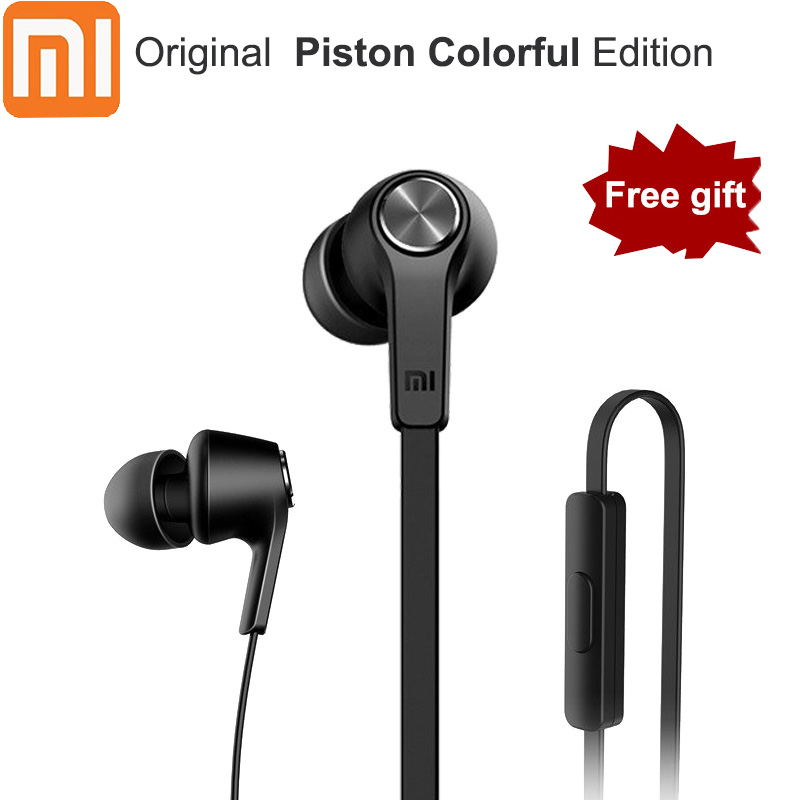 Original Xiaomi Piston Youth Colorful Version In-ear Earphone With Mic For Xiaomi Huawei Samsung Redmi 5 5A 5 Plus 4 4A 4X Note4