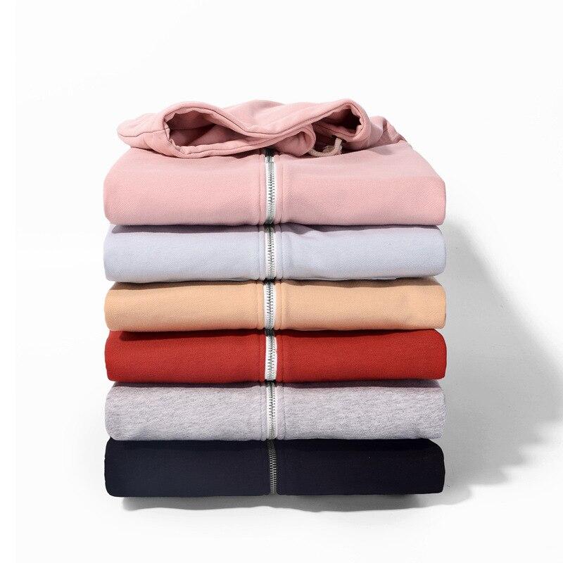 Для женщин одежда, с капюшоном, на осень зиму топ с длинными рукавами 2018 обувь с застежкой молнией в студенческом стиле чистого Разноцветные куртки LQ0096 - 4