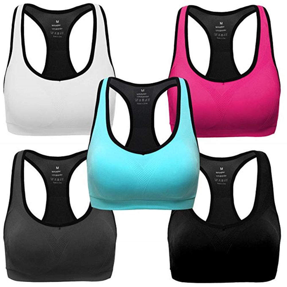 Fashion Shockprof Female Fitness Yoga Sports Bra Hollow Back Comfortable Quick Drying No Rims Sports Vest Bra Бюстгальтер