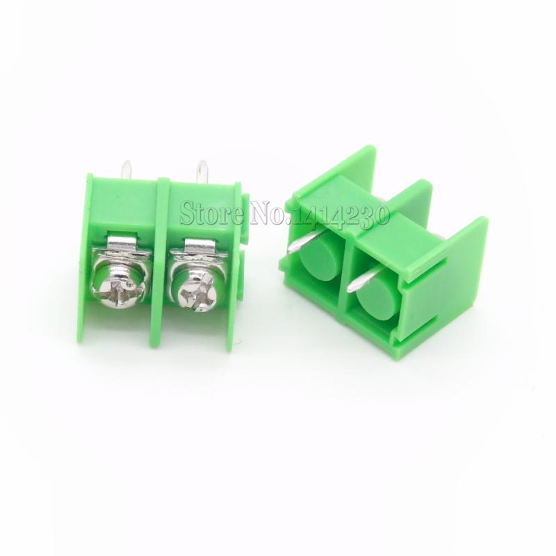 цена на 10Pcs KF7.62-2P Pitch 7.62mm Connector Pcb Screw Terminal Block Connector 2Pin