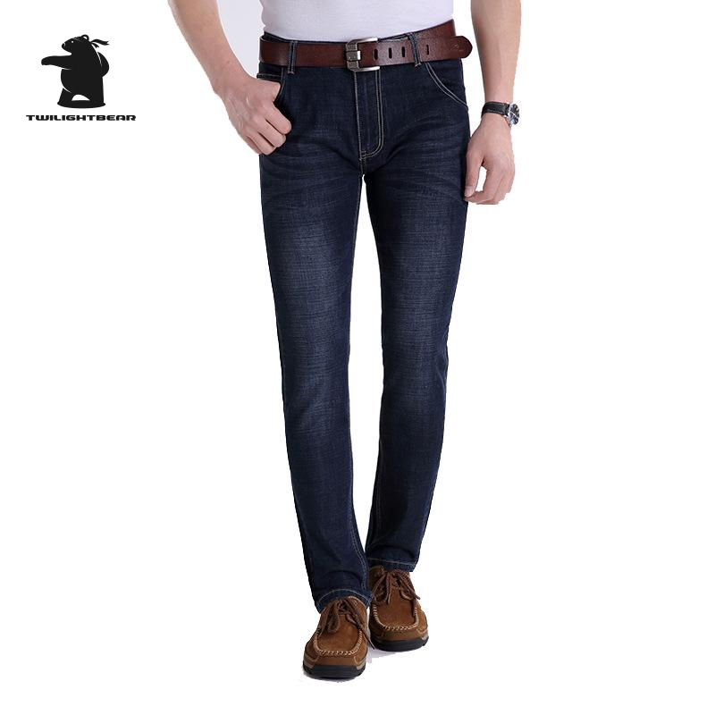 New Men s Jeans 2016 Autumn And Winter Fashion Plus Size Micro Elastic Straight Business Casual