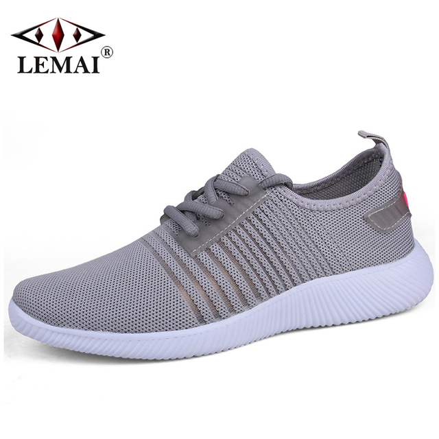 6b9b6811734 LEMAI Strip Women Black Sneakers Autumn Spring Breathable Lady Pink Running  Shoes Air Mesh Outdoor Sport Light Trainers F1702