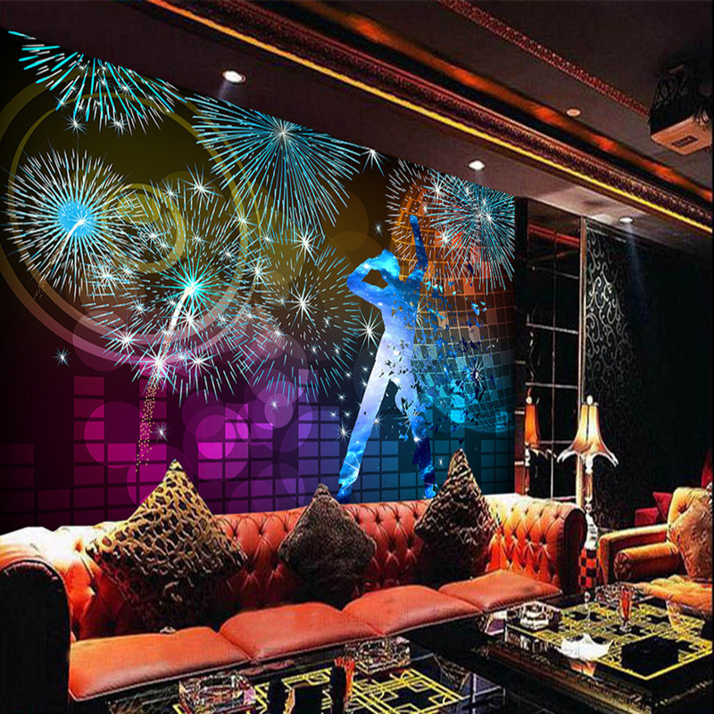 3D Wallpaper Custom HD Photo Non-Woven Mural Wallpaper Hotel Colorful Club KTV Background Home Decor 3D Wall Mural Wallpapers skp151custom made goodyear 100% genuine leather handmade brogue shoes men s handcraft dress formal shoes large plus size