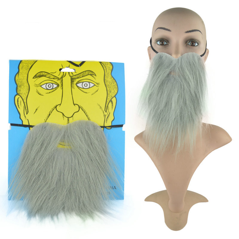 Facial Hair Disguise Artificial Beard Halloween Funny Mask Festival Costume Party Game Whisker Masquerade Cosplay