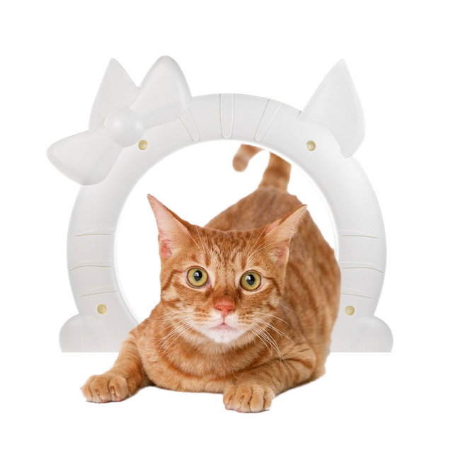 Lovely Pet Cat Door Gate Puppy Gates With Hollow Core ABS Material For Cats  In And