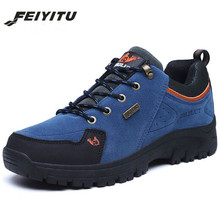 feiyitu Men Boots Winter With Fur 2018 Warm Snow Work Shoes Footwear Fashion Rubber Ankle