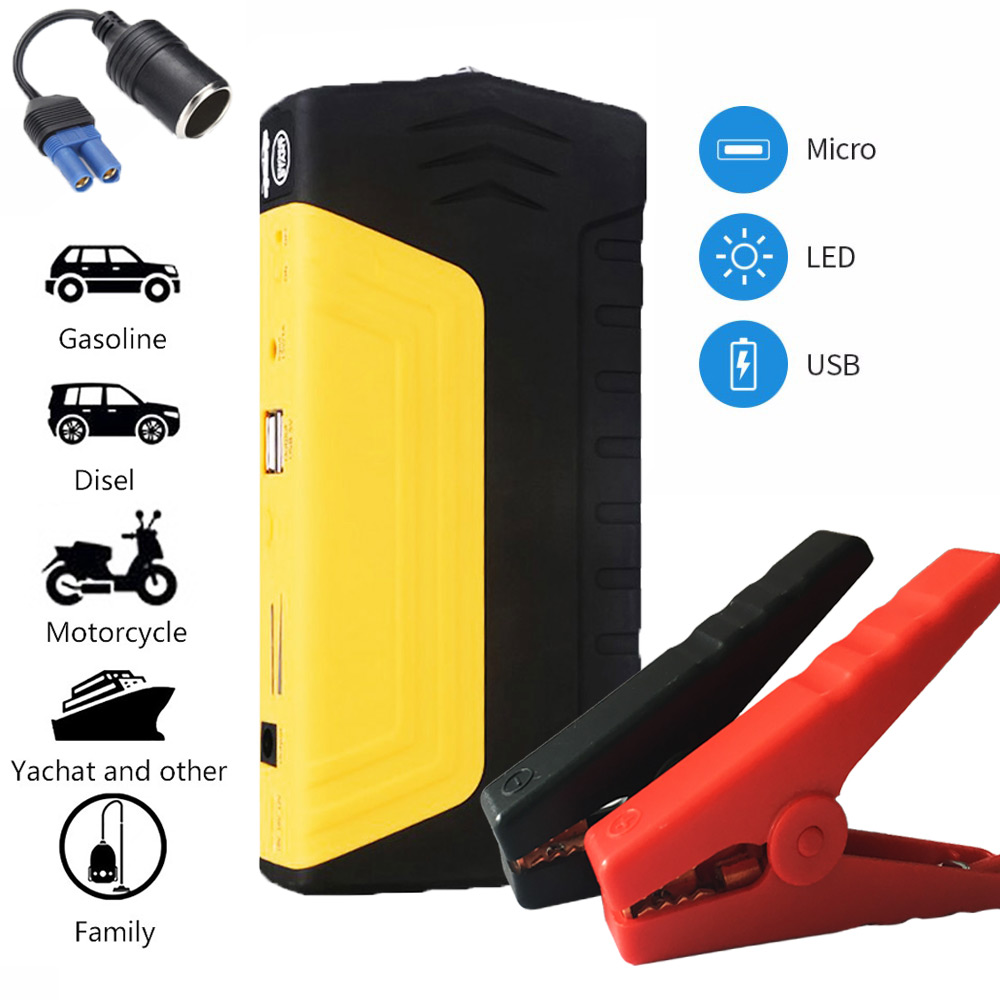 Car Jump Starter Emergency 12V Starting Device USB SOS Light Mobile Power Bank Car Charger For Car Battery Booster Buster LED