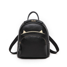 100% Genuine Leather Women Backpacks High Quality Head Layer Cowhide Backpacks for Fashion Cat Ears Backpack Travel Bag Leather