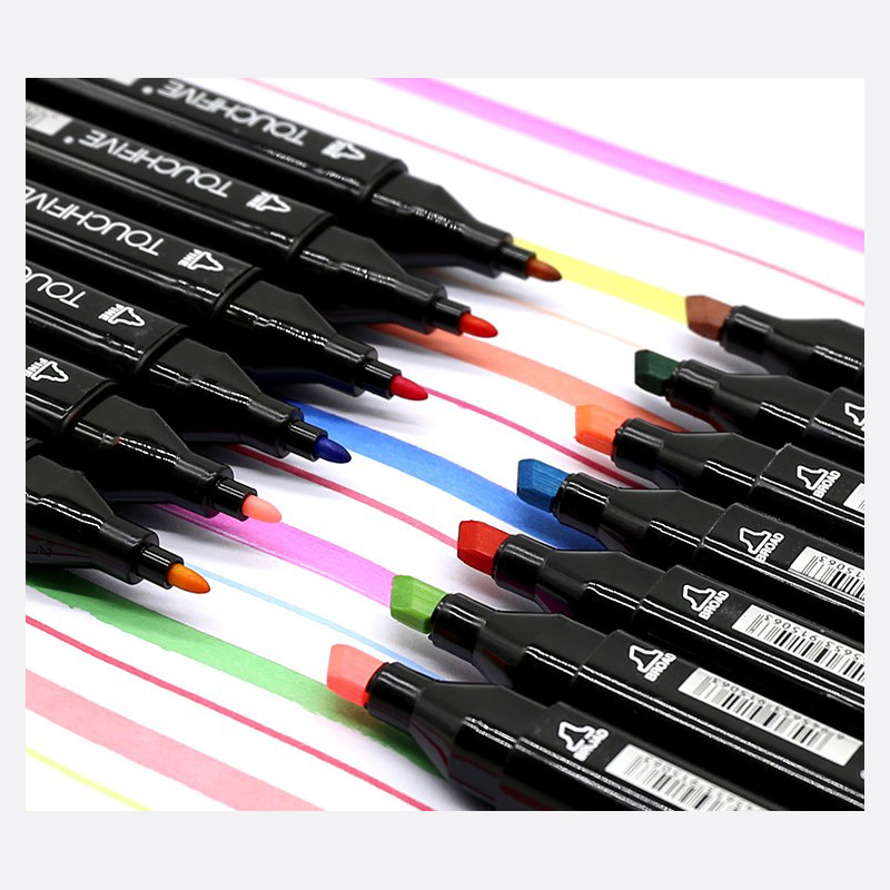 TouchFIVE 30/40/60/80/168 Color Art Markers Set Dual Headed Artist Sketch Oily Alcohol based markers For Animation Marker pen