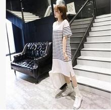 2016 new summer pregnant women dresses Korean maternity striped short sleeved dress maternity clothes SH-049