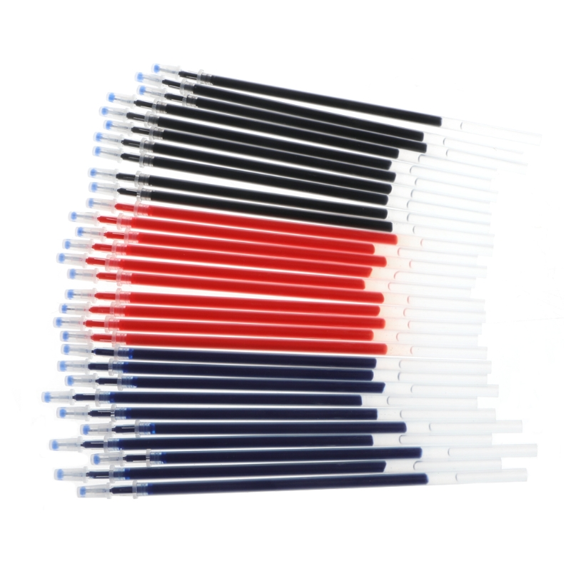 10Pcs 0.38mm <font><b>0.5mm</b></font> Gel Ink <font><b>Ballpoint</b></font> <font><b>Pen</b></font> <font><b>Refill</b></font> Black Blue Red Stationery Supply W30 image